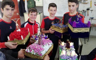 Pasos de Semana Santa realizado por alumnos de 2° ESO